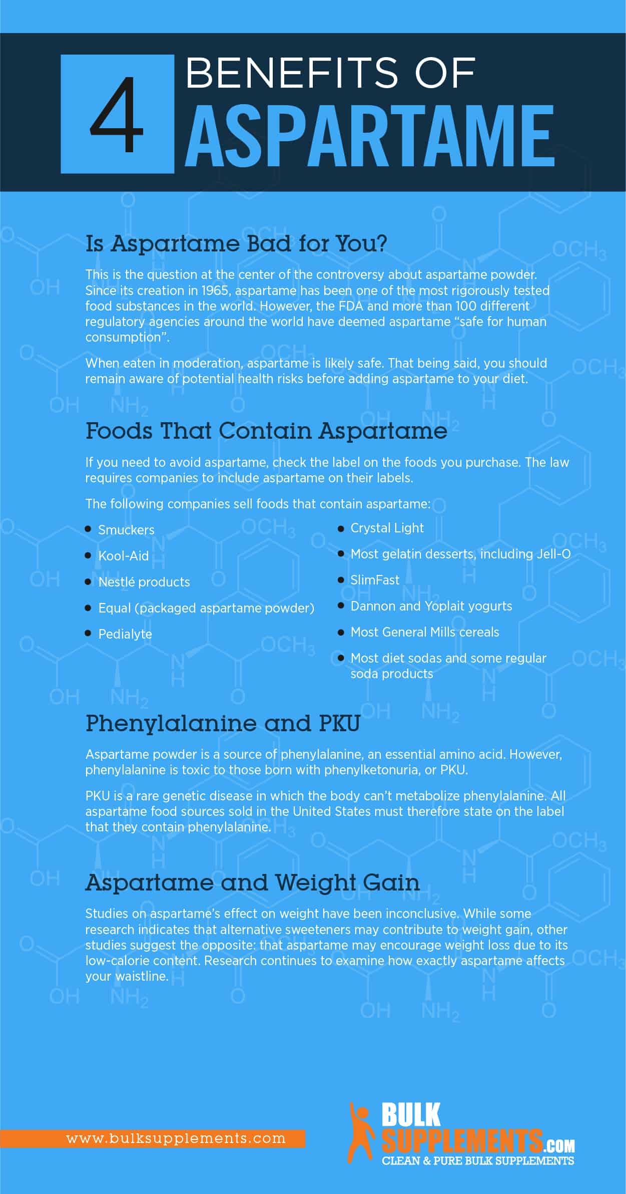 Aspartame Benefits
