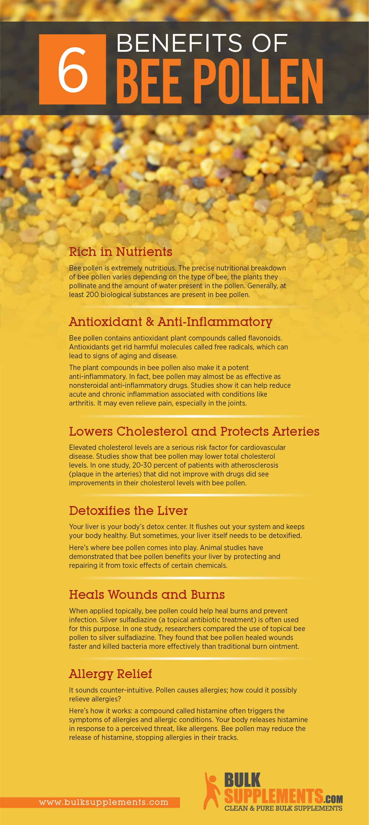 Bee Pollen Benefits, Side Effects, and Dosage