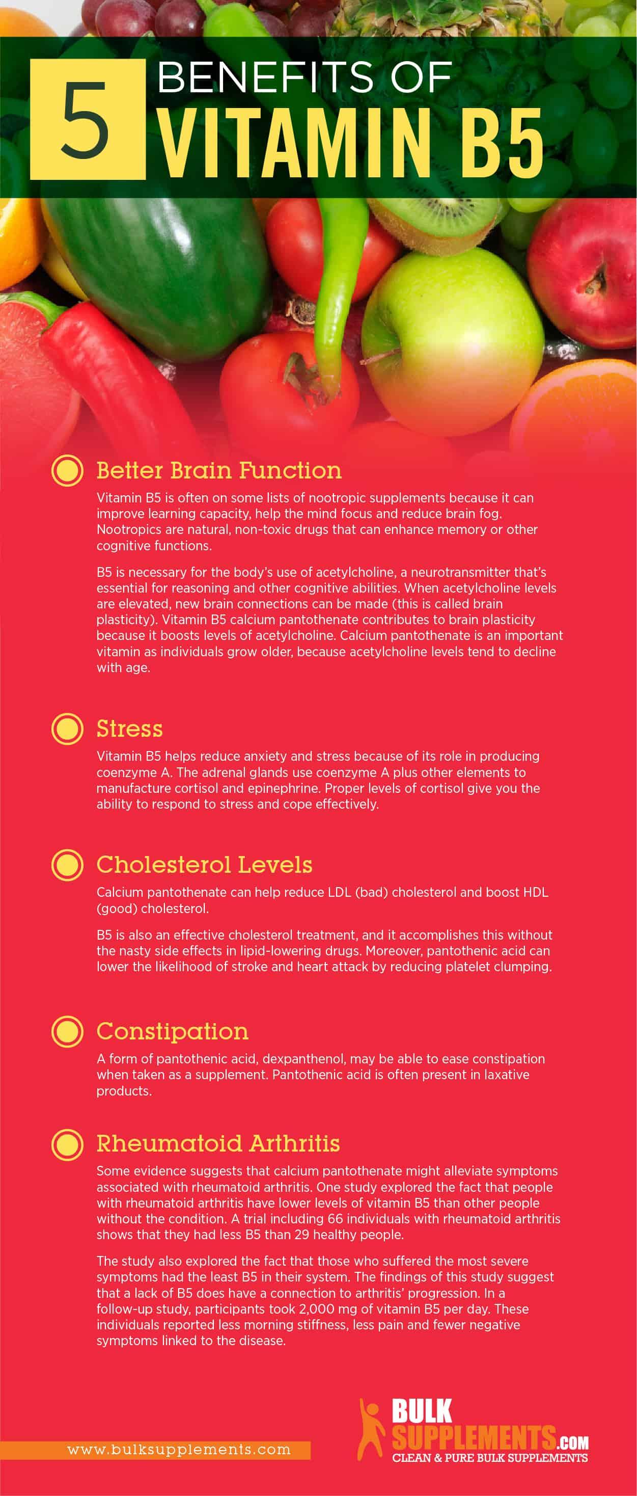 Vitamin B5 Benefits