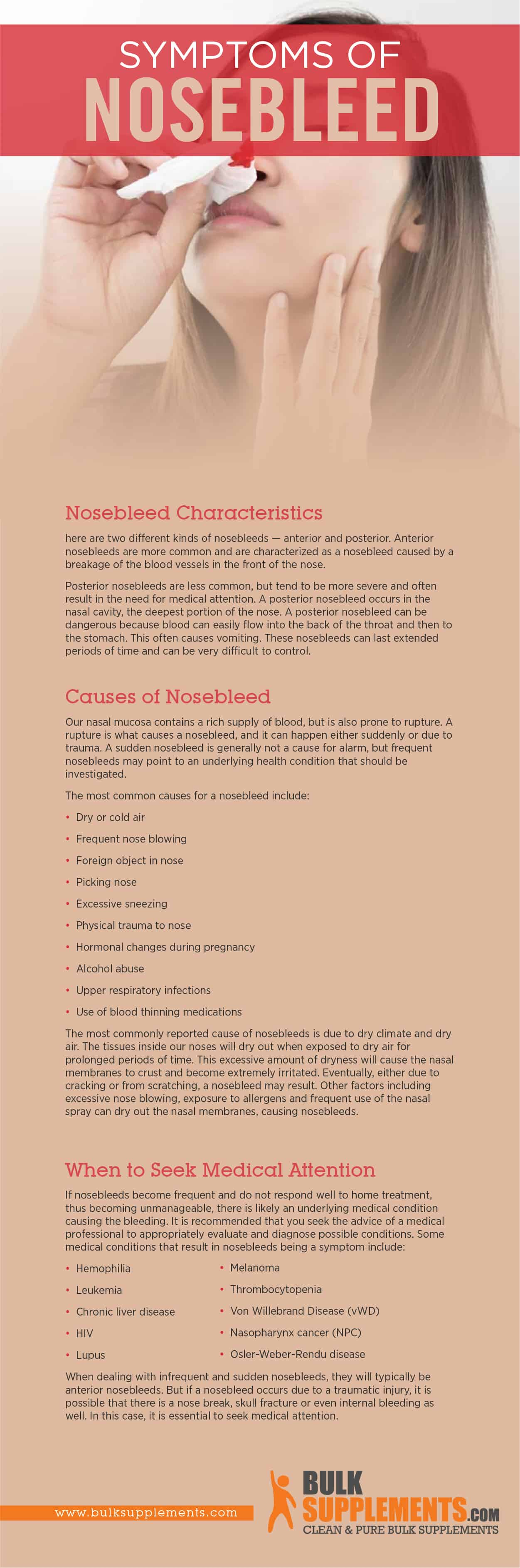 Nosebleed Symptoms