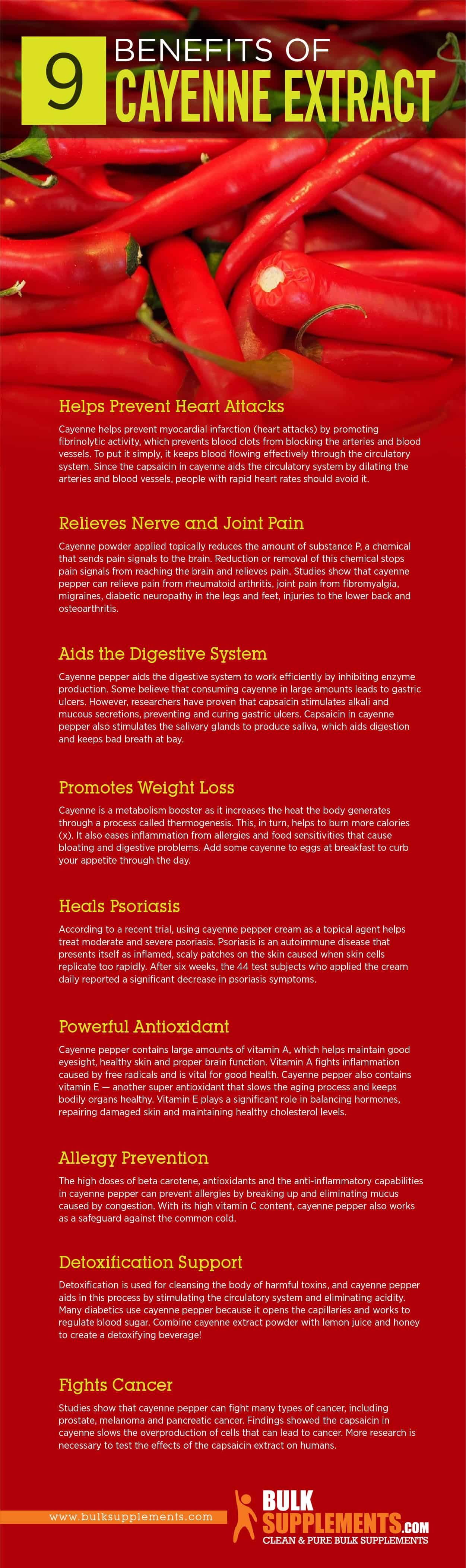 Cayenne Extract Benefits