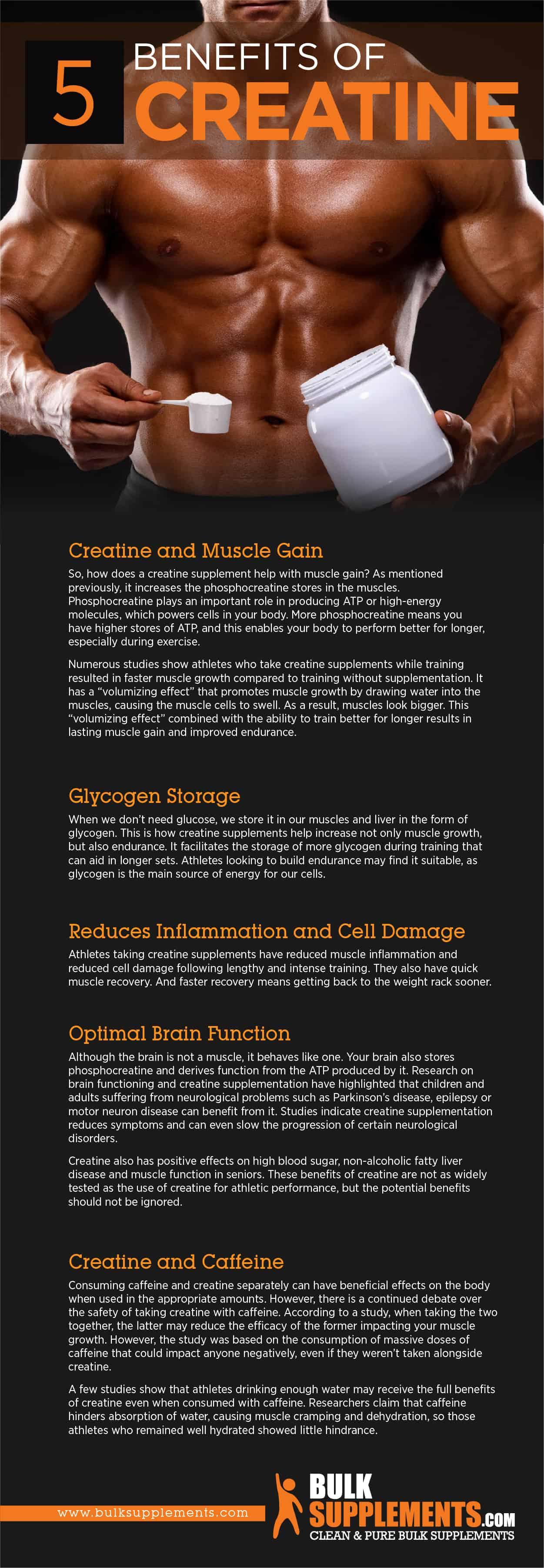 Benefits of creatine supplements