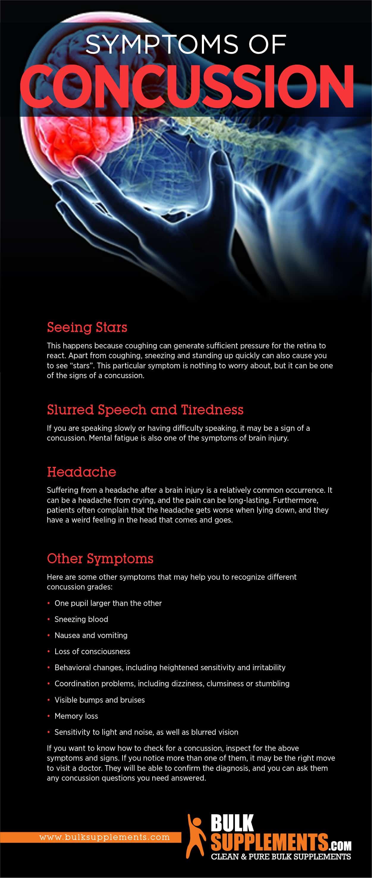 Concussion: Symptoms, Causes & Treatment | BulkSupplements com