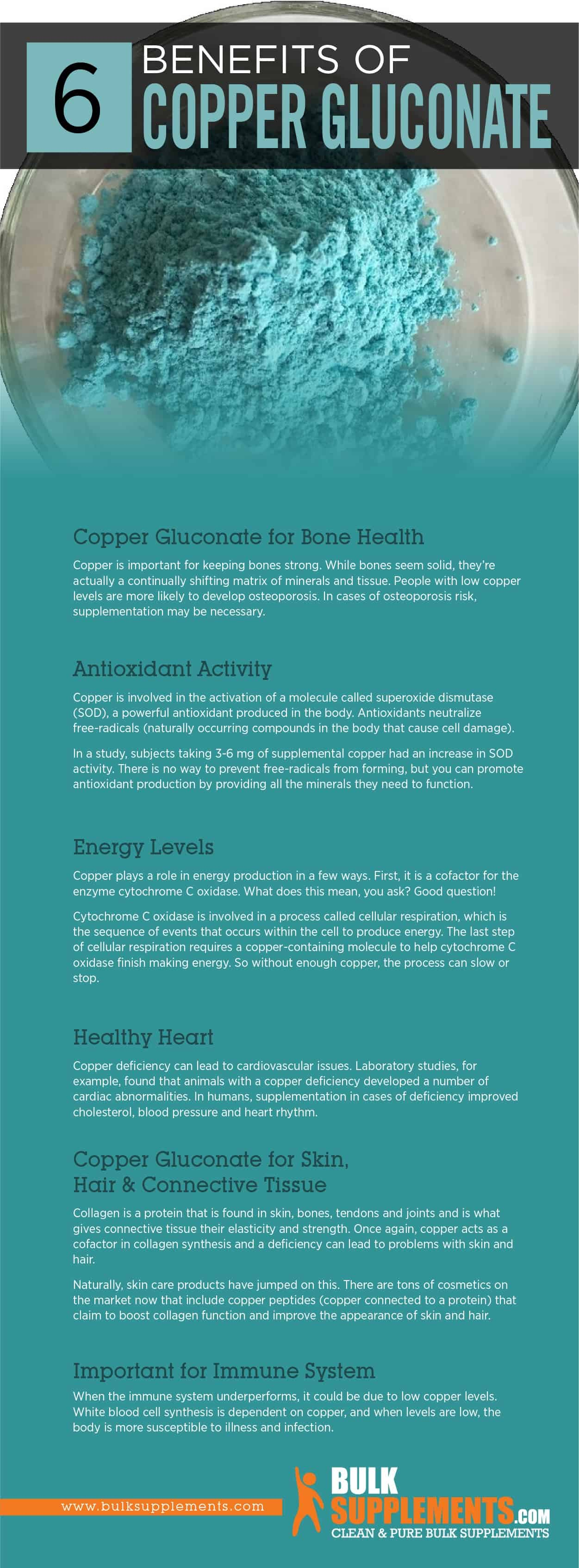Copper Gluconate Benefits