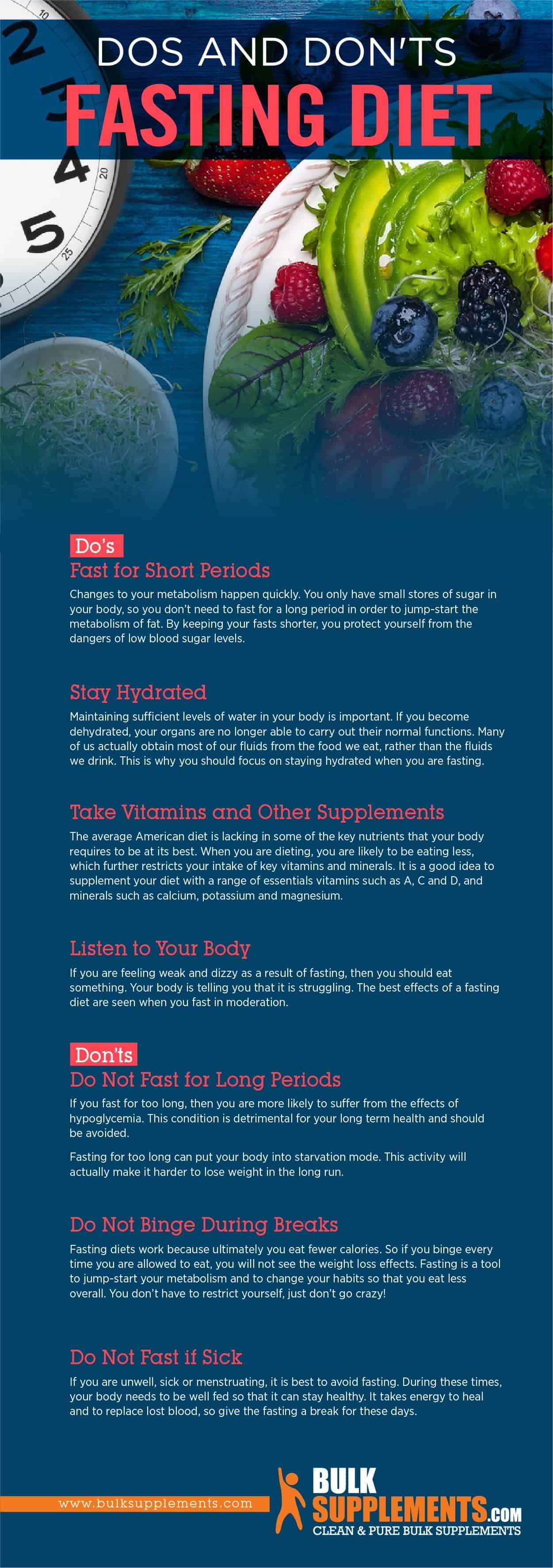 Fasting Diet Dos and Don'ts