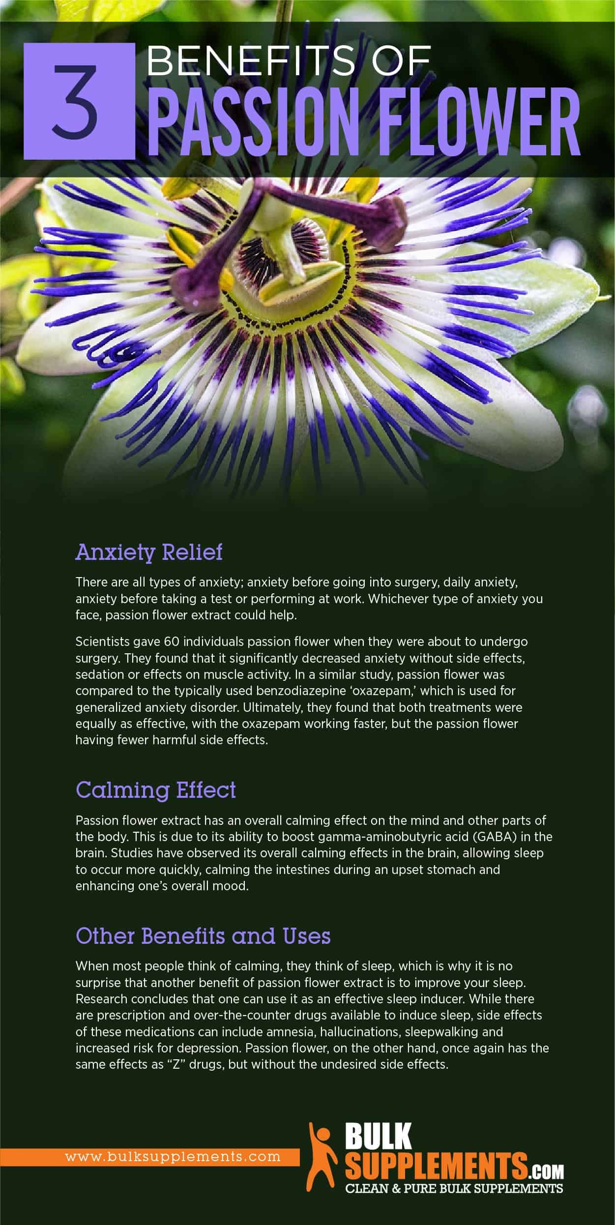 Passion Flower Extract Benefits Side Effects Dosage