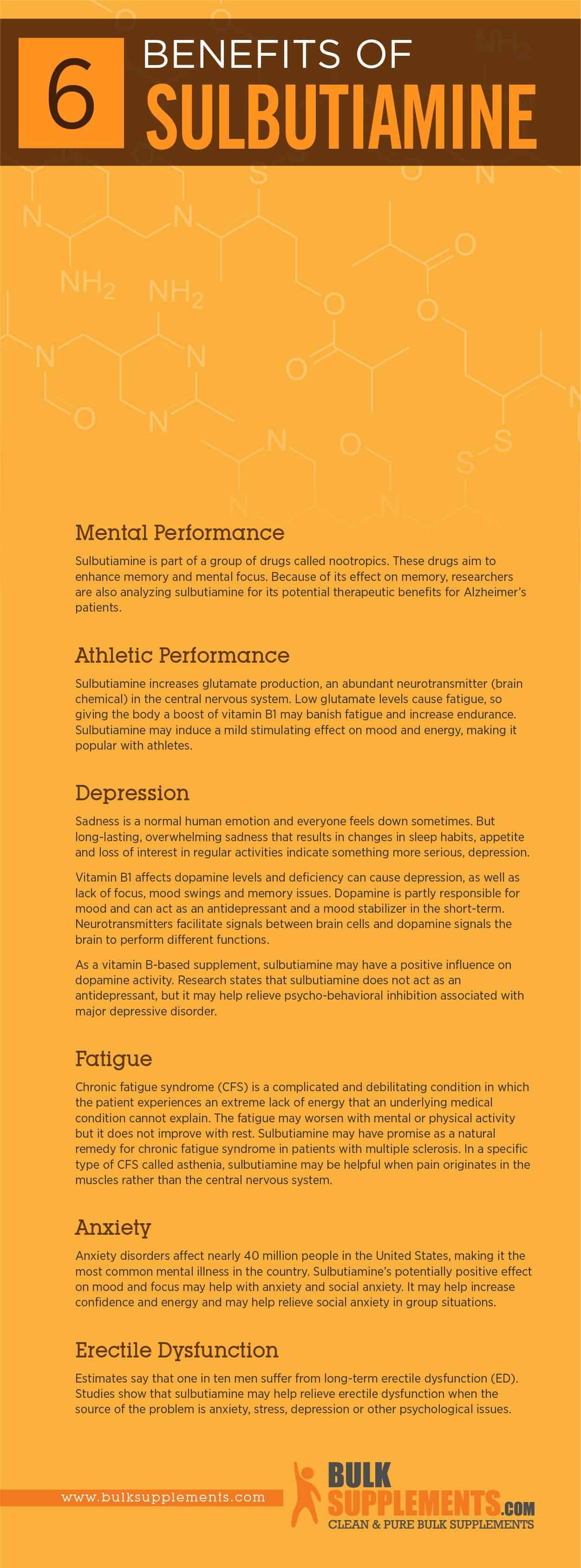 Sulbutiamine Benefits