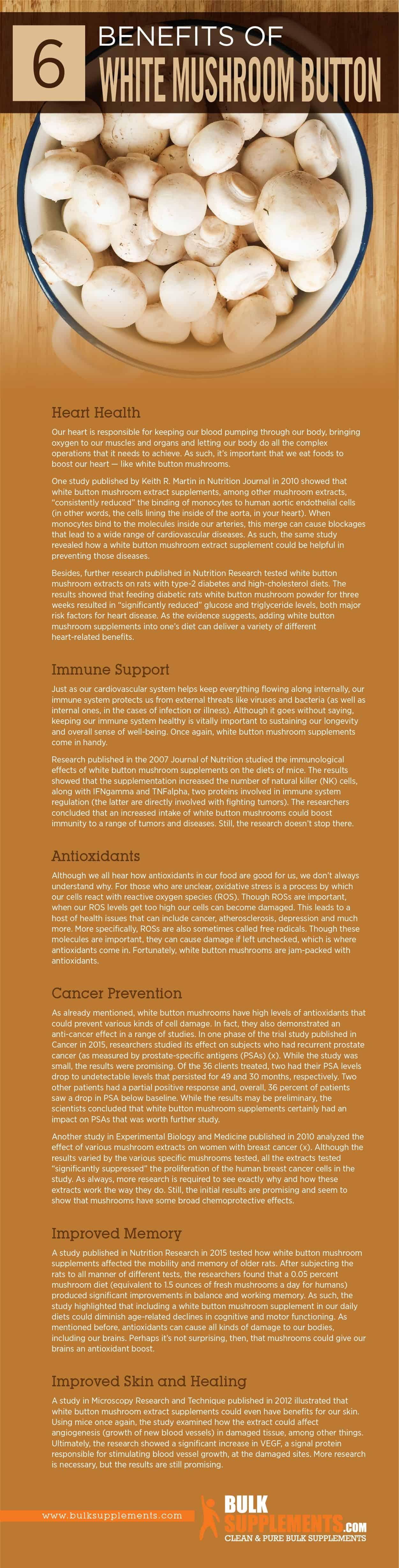 White Mushroom Button Benefits