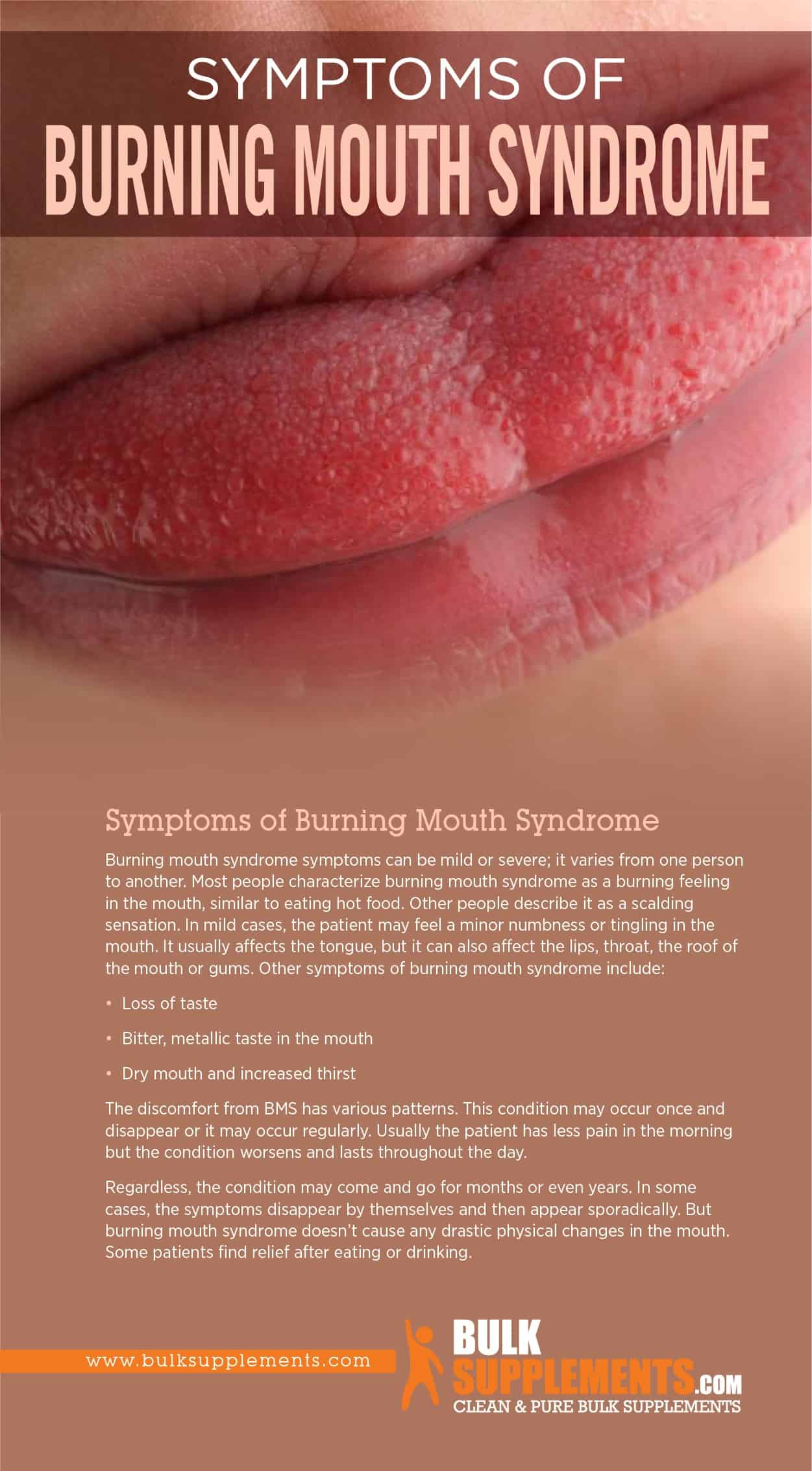 Symptoms of Burning Mouth Syndrome