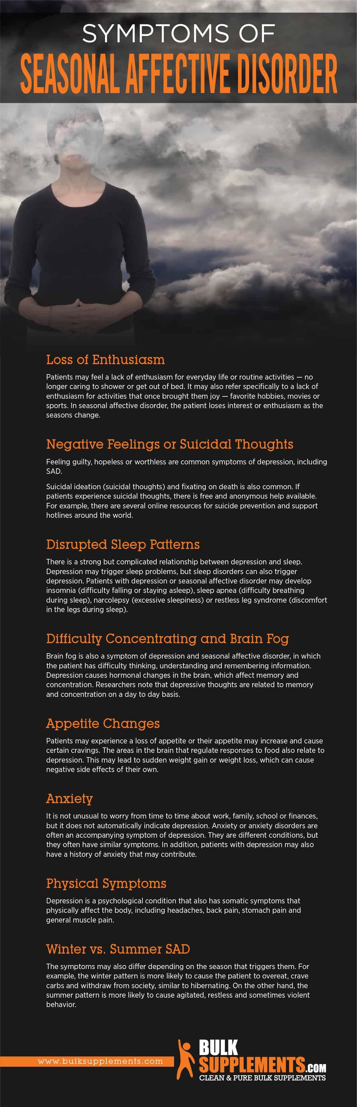 Symptoms of Seasonal Affective Disorder
