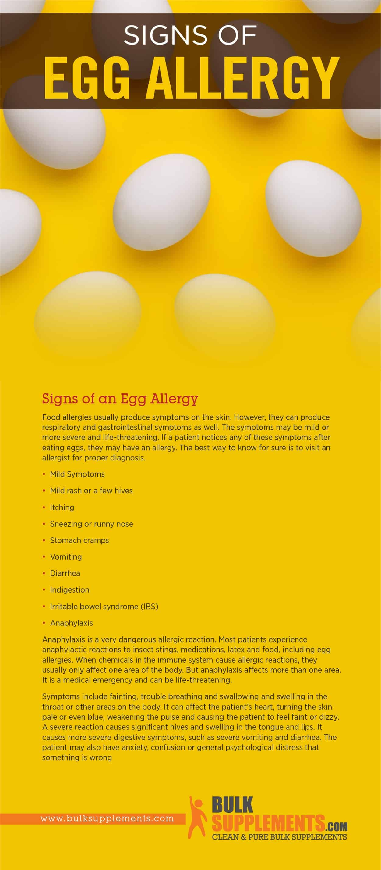 Egg Allergy Signs