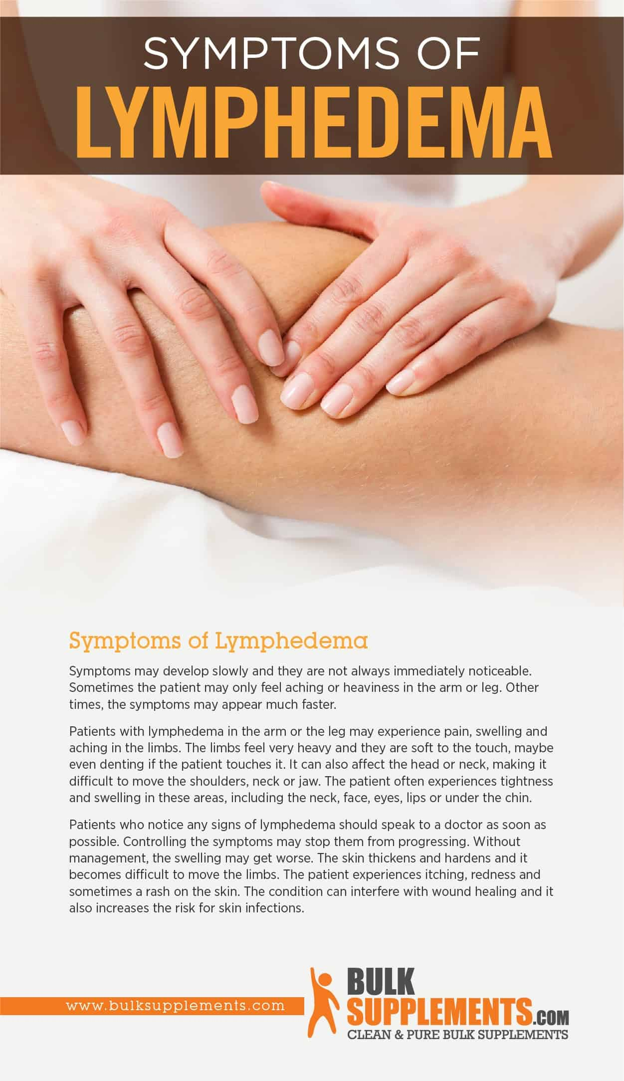 Symptoms of Lymphedema