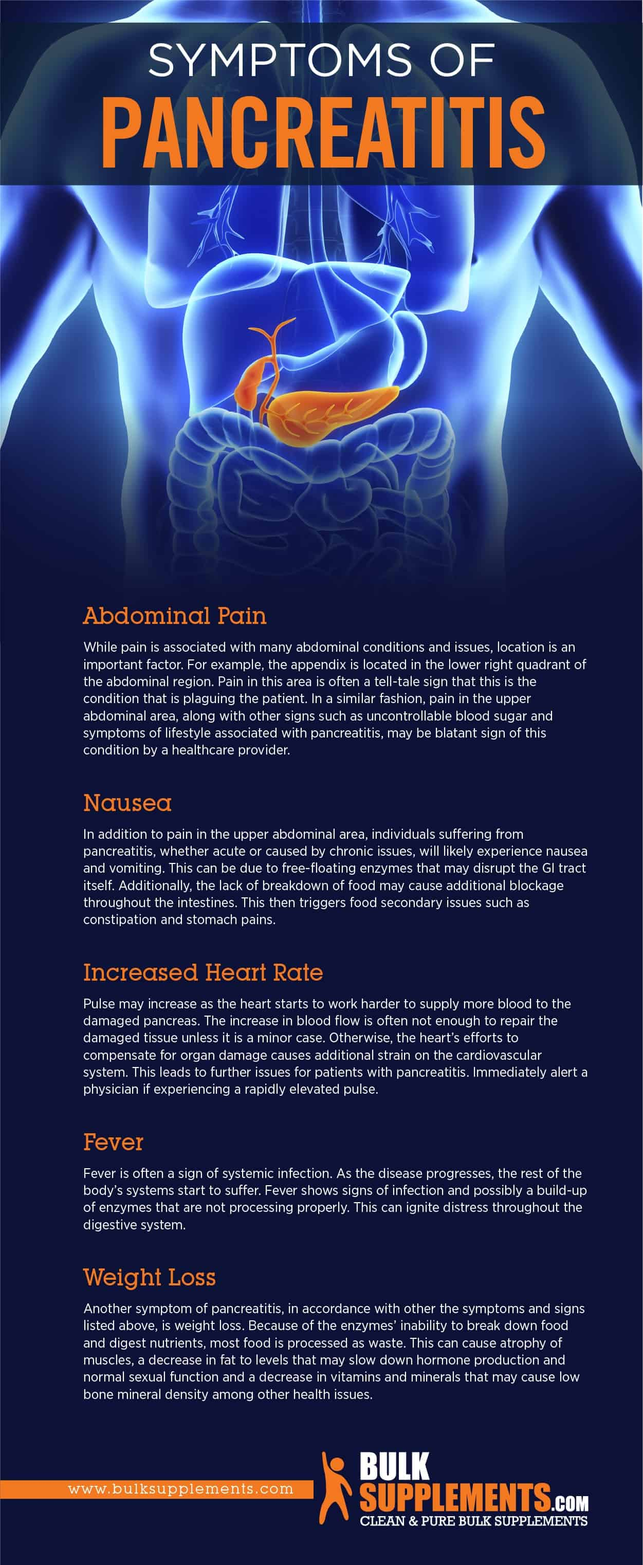 Symptoms of Pancreatitis