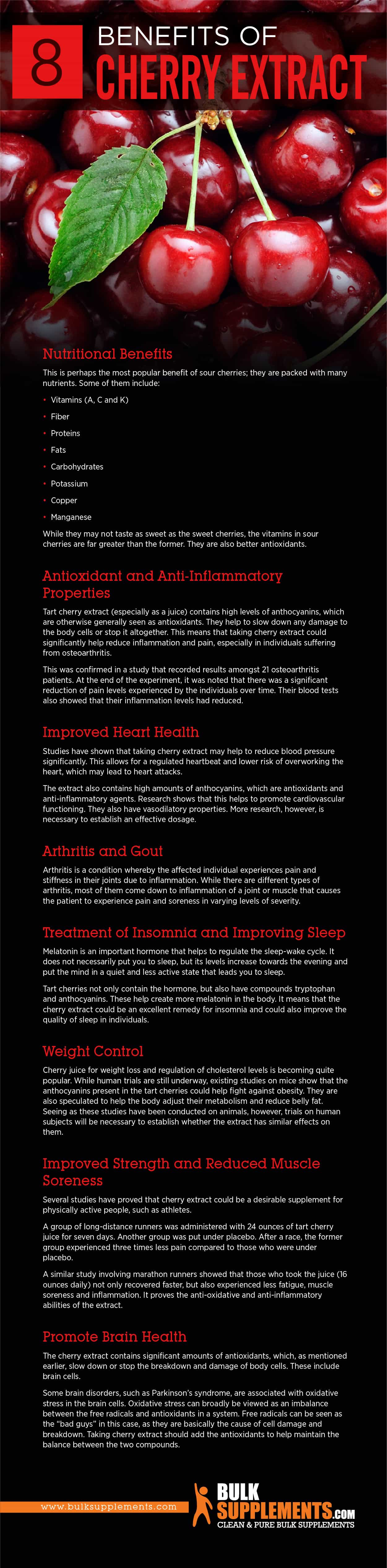 Benefits of Cherry Extract