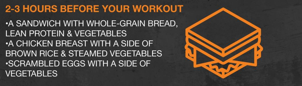What to eat 2-3 hours before a workout