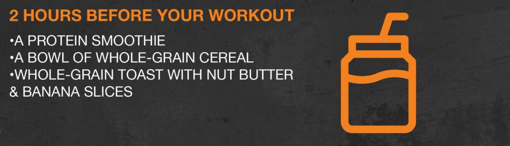 What to eat 2 hours before a workout